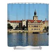 Prague East And Charles Bridge Shower Curtain