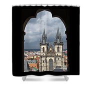 Prague From Town Hall Tower Shower Curtain