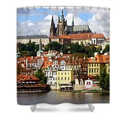 Prague Skyline Shower Curtain