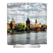 Prague Panorame Shower Curtain