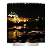 Prague National Theater Shower Curtain
