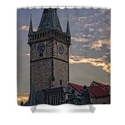 Prague Old Town Hall Shower Curtain