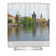 Prague Reflected Shower Curtain
