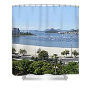 Botafogo Beach Shower Curtain