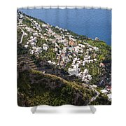 Praiano Village Shower Curtain