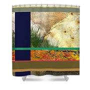 Prairie Grasses Amid The Rocks Shower Curtain