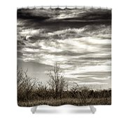 Prairie Winter Sky Shower Curtain