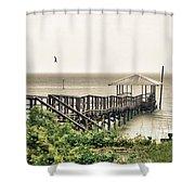 Prange Street Pier Raining Shower Curtain
