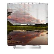 Pratt Cove Sunset Shower Curtain
