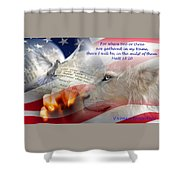 Pray For Our Nation Shower Curtain