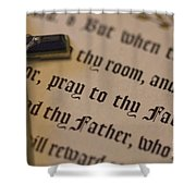 Pray To Thy Father Shower Curtain