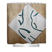 Prayer - Tile Shower Curtain