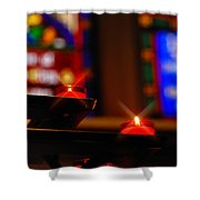 Prayer Candles Trinity Cathedral Pittsburgh Shower Curtain