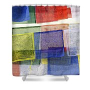 Prayer Flags Shower Curtain