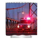 Prayer For Emergency Health Care First Responders Shower Curtain