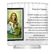 Prayer To St. Dymphna Shower Curtain