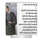 Prayer To St. Gerard For Motherhood Shower Curtain