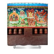 Prayer Wheels And Paintings Shower Curtain