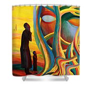 Prayers At The Tree Of Life Shower Curtain