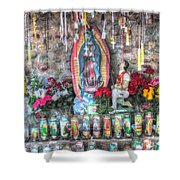 Prayers To Our Lady Of Guadalupe Shower Curtain