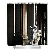 Praying Angle - Sucre Cemetery Dramatic Shower Curtain