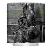 Praying Statue In Chantilly Shower Curtain