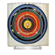 Pre-copernican Universe Shower Curtain