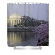 Pre-dawn At The Jefferson Memorial 2 Shower Curtain