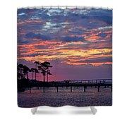 Pre-dawn Colors On Santa Rosa Sound Shower Curtain