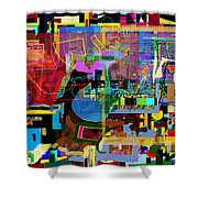 precious is man for he is created in the Divine Image 11 Shower Curtain