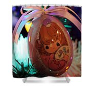 Precious Moments Christmas Ornament Shower Curtain