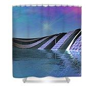 Precious Water Alien Landscape Shower Curtain