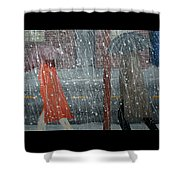 Precipitous Afternoon Shower Curtain
