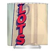 Precocious Slots Shower Curtain
