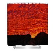 Predawn Dune Color Explosion 5 10/30 Shower Curtain