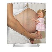 Pregnant Woman  Shower Curtain