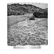 Prehistoric - Clark Dry Lake Located In Anza Borrego Desert State Park In California. Shower Curtain
