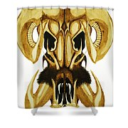 Prehistoric Ram Shower Curtain