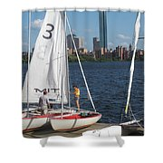Preparing To Sail In The City. Shower Curtain