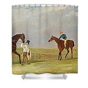 Preparing To Start For The Doncaster Gold Cup 1825 Shower Curtain