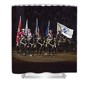 Presenting The Colors On Horseback Shower Curtain