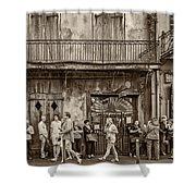 Preservation Hall Sepia Shower Curtain