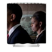 President And Mrs Obama Shower Curtain