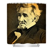 President Andrew Jackson Portrait And Signature Shower Curtain