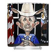 President George W Bush You Been Cubed Shower Curtain
