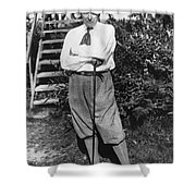President Harding Playing Golf Shower Curtain