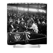 President Herbert Hoover And Baseball Great Walter Johnson 1931 Shower Curtain