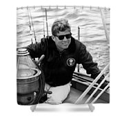 President John Kennedy Sailing Shower Curtain
