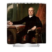 President John Quincy Adams  Shower Curtain by War Is Hell Store