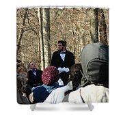 President Lincoln Speaks Shower Curtain